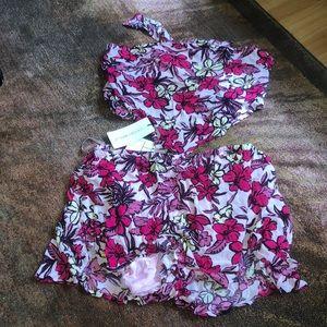 Cotton Candy Shorts - Floral set